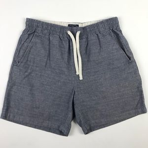 J.Crew Chambray Mens Dock Shorts S #1232